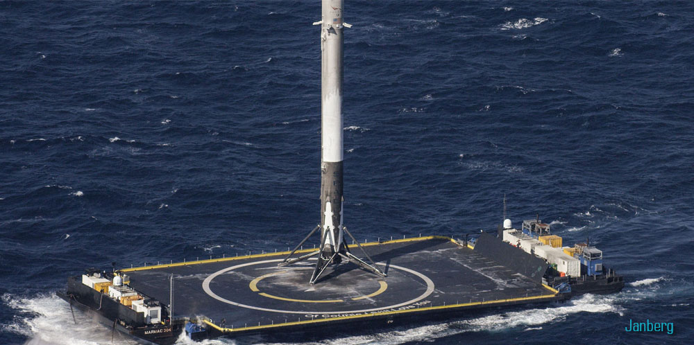 SpaceX -  возвращаемая ступень ракеты Falcon 9