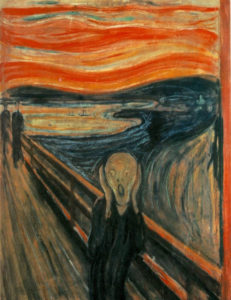 Картина Эдварда Мунка - Крик» (норв. Skrik)