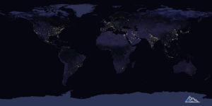Спутниковые данные о ночной освещенности Северной Кореи
