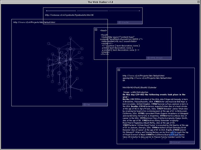 Формы цифрового искусства WebStalker I/O/D