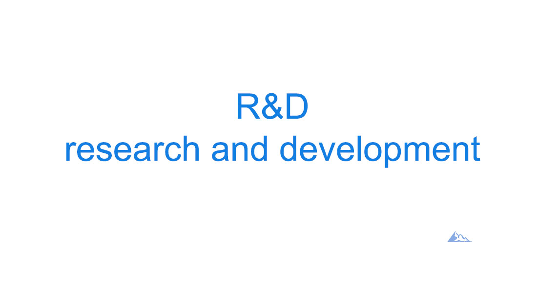 R&D research and development
